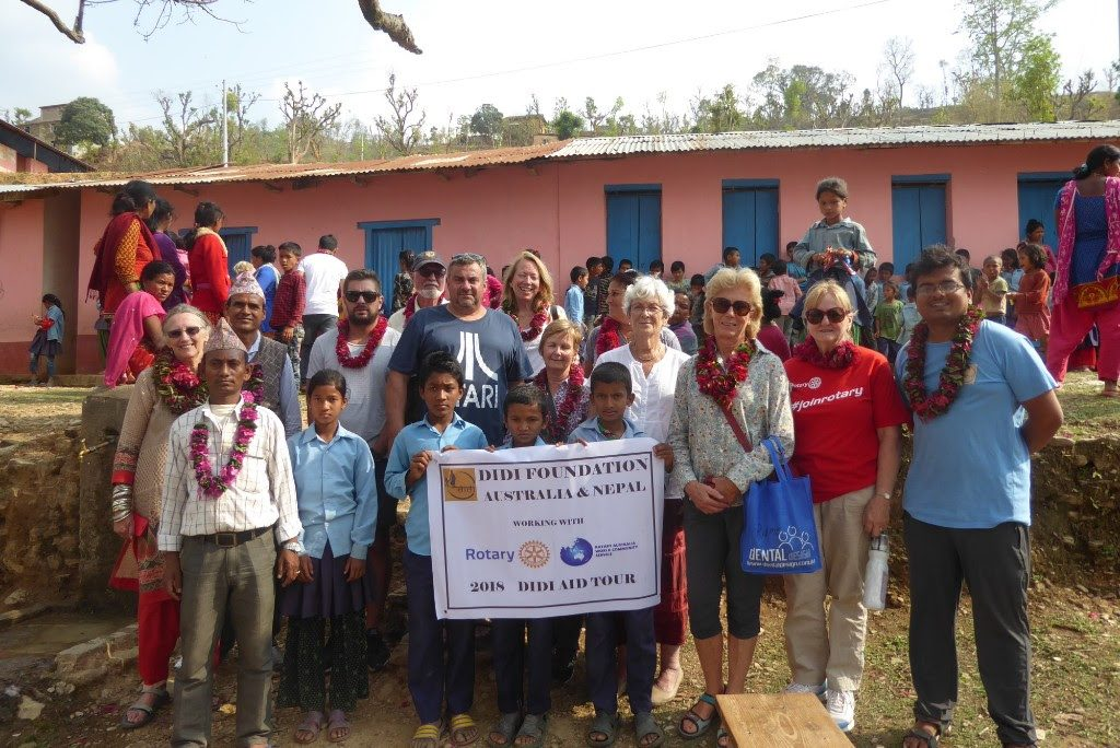 2018 Didi Aid team at Ramechhap School